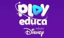 Logomarca Cupom de desconto Play Educa Edição Disney Dezembro 2020